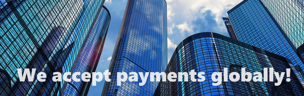 We accept payments globally!